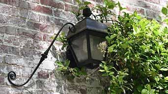 Antique-Light-on-Home-Exterior