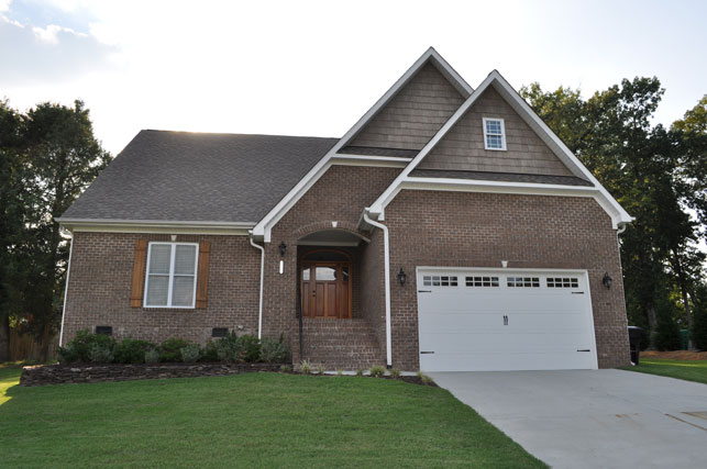 Exterior of New Home Construction in Triad of North Carolina